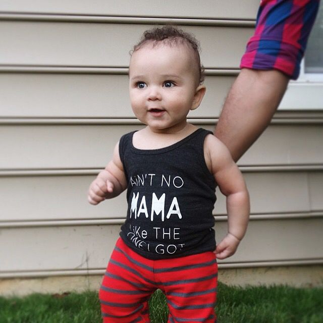 Summer styling Cutest babe in our #aintnomamaliketheoneigot tank top. Thanks @ad0ring_ari for sharing Tanks once again have been restocked in all sizes || Shop www.stellar-seven.com ||  #stellarseven #ig_kids #baby #fashion #kidsapparel #kidsfashion #ootd #babyootd #shopsmall #supportsmallbusiness