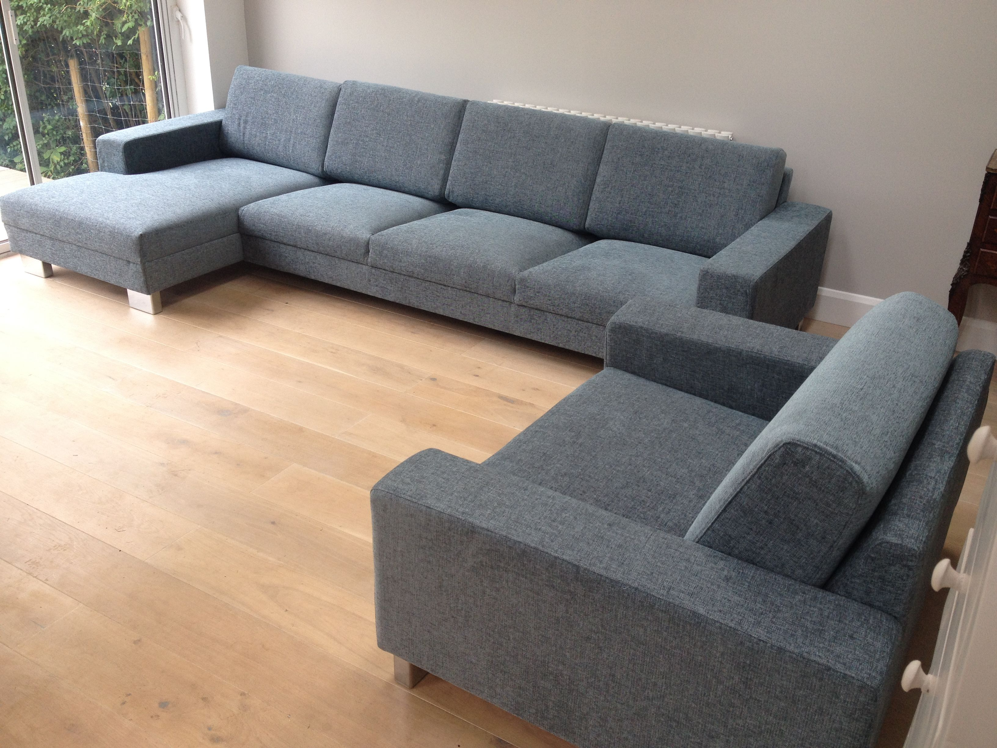 left hand facing chaise right hand facing 3 seat sofa plus