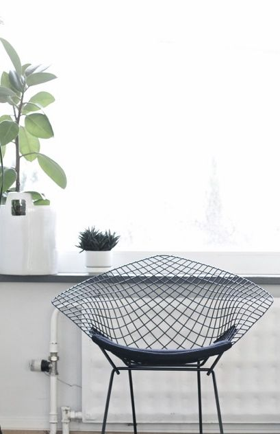 Via Time of the Aquarius | Bertoia Diamond Chair | White | Midcentury