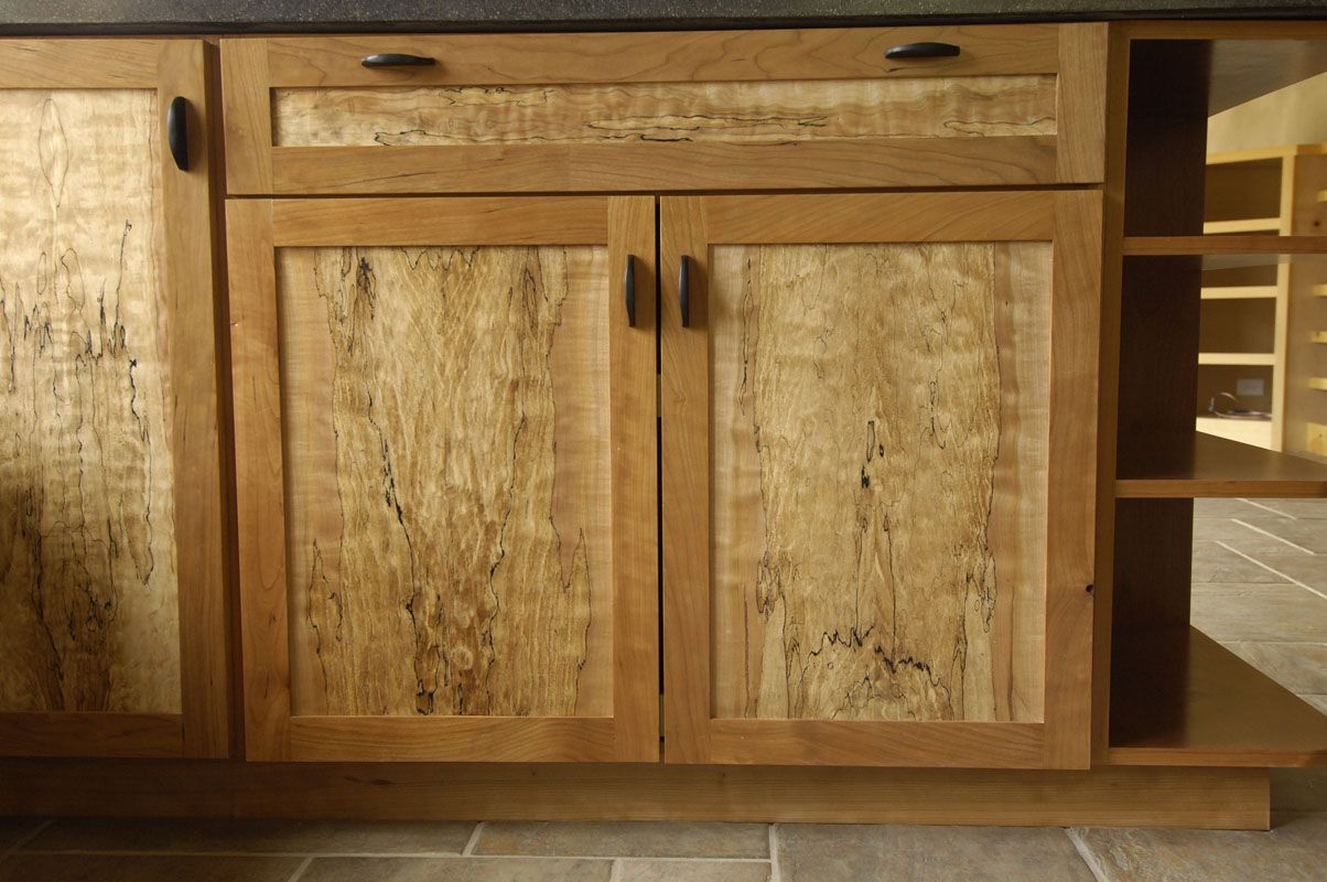 Bookmatched Spalted Maple And Cherry Kitchen Projects To Try