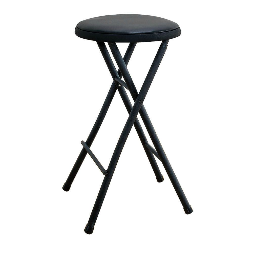 Folding Stool Cosco Black Lightweight Home Office