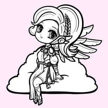 Mercy Winged Victory Skin Chibi By Lesanka Winged Victory Chibi Wings