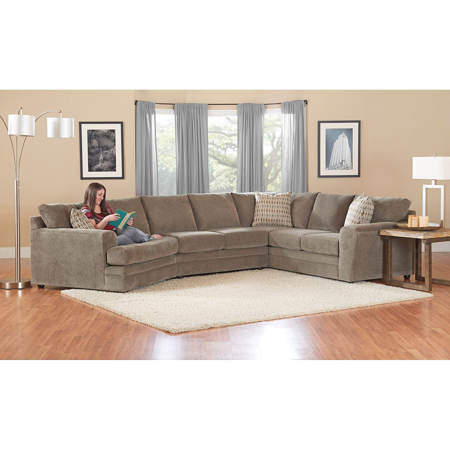 Prestige Ashburn Sectional Sofa Sam S Club Gray Couch