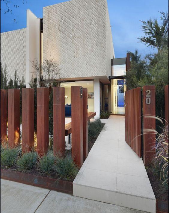 01 easy creative privacy fence design ideas   Modern fence ...  Simple Modern Fences