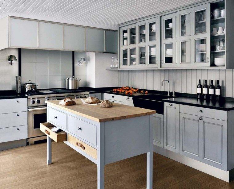 isla de madera preciosa en la cocina moderna | cocinas | Pinterest ...