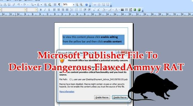 Payment Advice Slip Hackers Using Microsoft Publisher File To Deliver Dangerous .