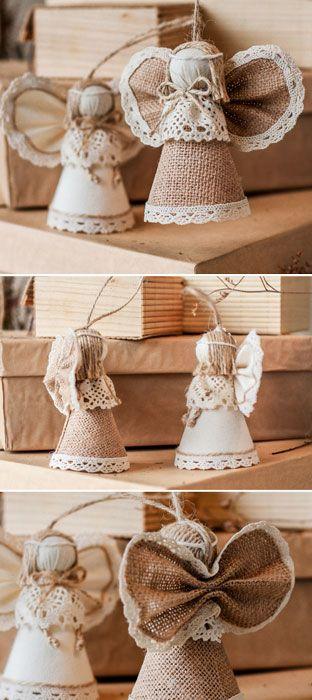 Angel Burlap Wedding Decor Handmade Birthday Present Accessories Christmas Decorations Home