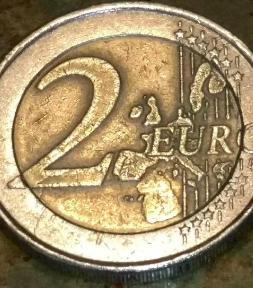 Sehr Seltene 2 Munze 2002 S Mit Einer Ungewohnlichen Landkarte In Bayern Roth Landkarte Karten Pragung