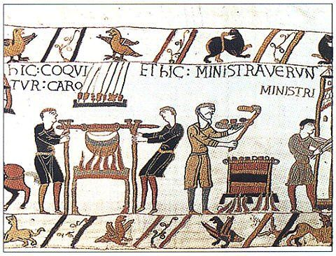 Image result for bayeux tapestry meat skewers