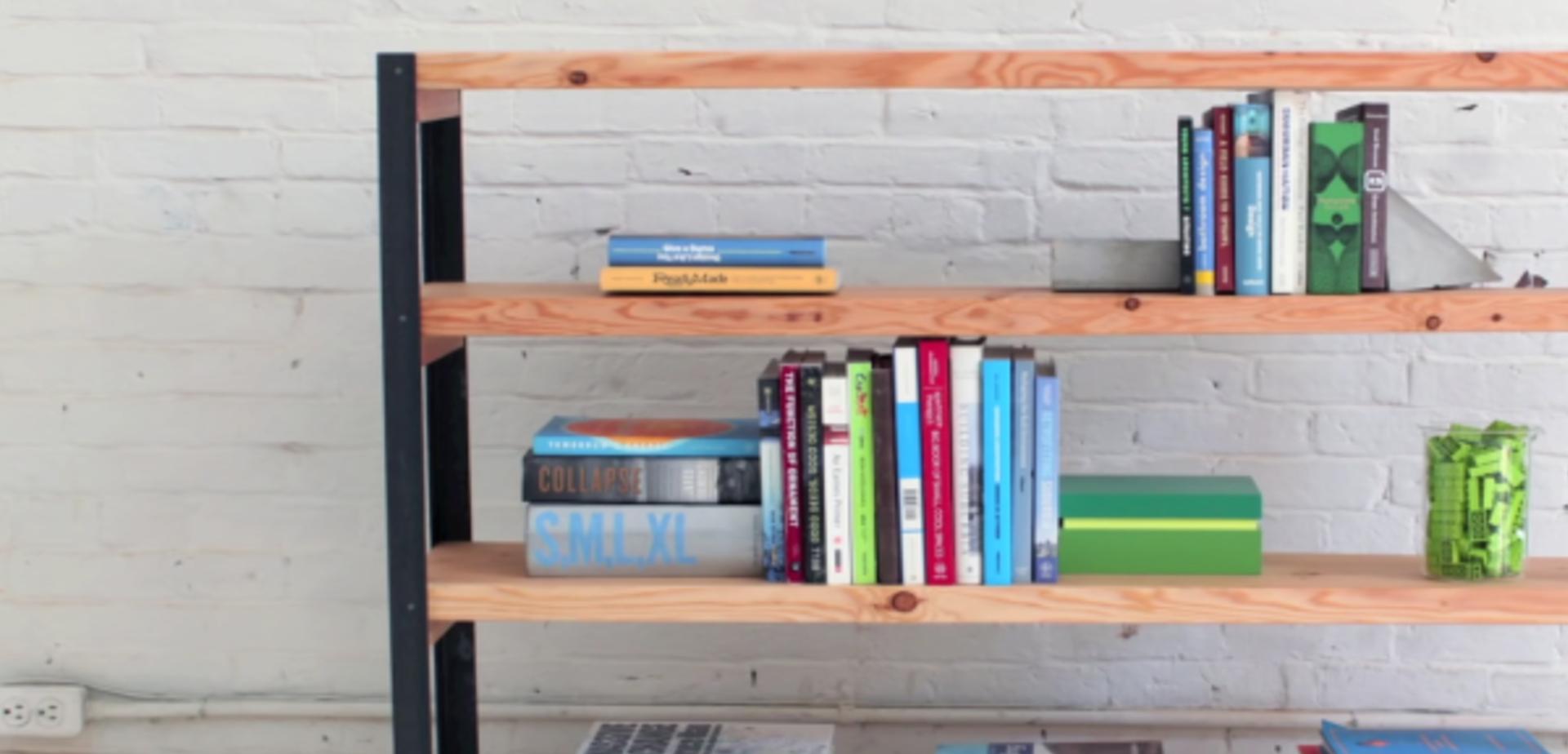 industrile boekenkast maken