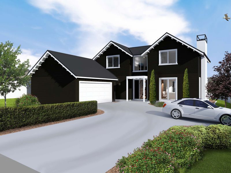 Black house white trim exterior hus house styles grand designs new zealand home decor - Black house with white trim ...