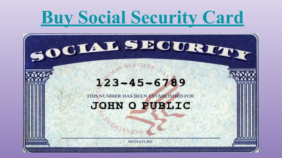 How To Buy Social Security Card Immediately With Images