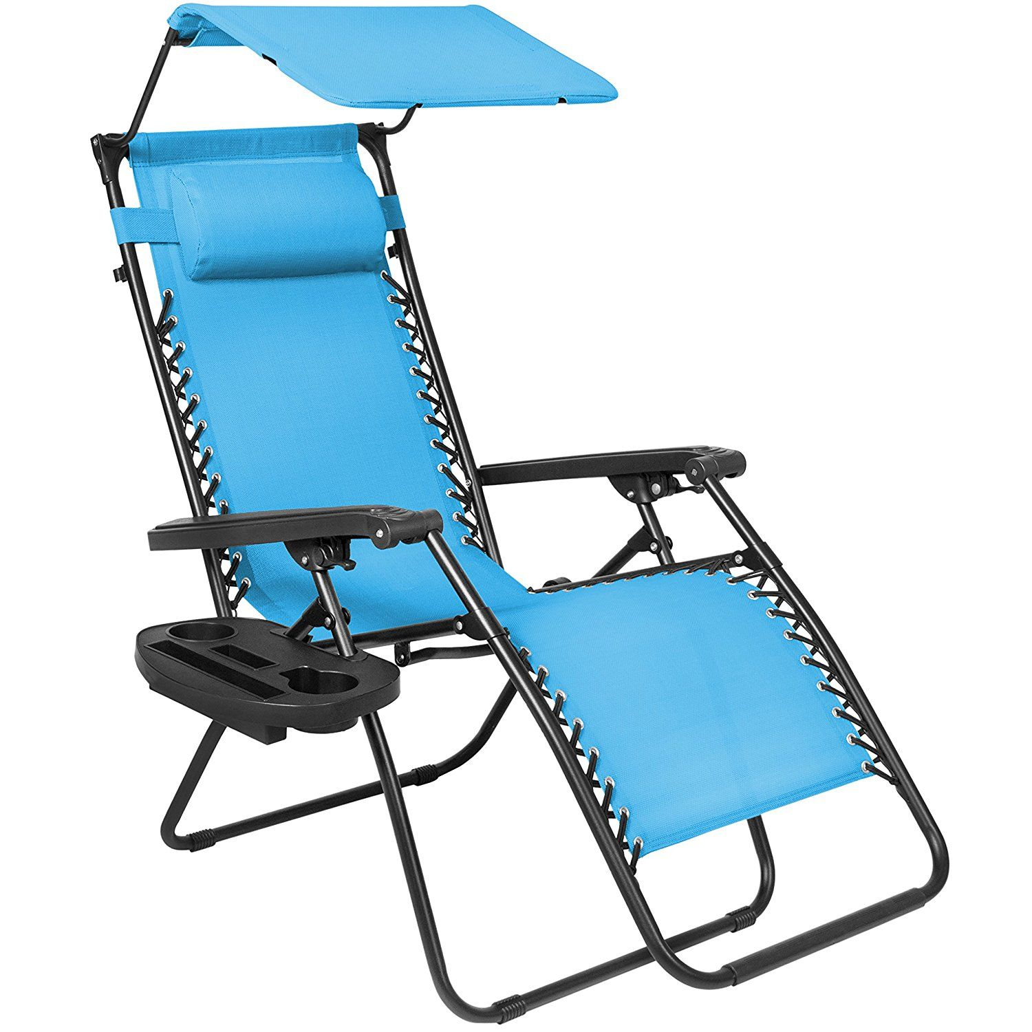Amazon.com : Best Choice Products Folding Zero Gravity Recliner Lounge Chair  W/ Canopy