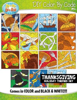 You will receive 30 clipart graphics that were hand drawn by myself; 15 Color and 15 B/W Outlined Graphics.