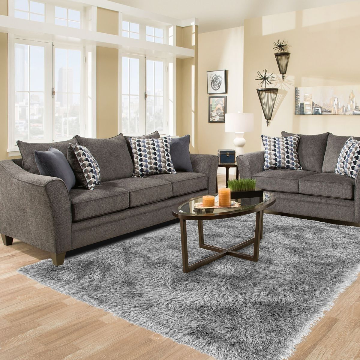 The Stylish And Welcoming Jada Living Room Collection Will Suit Any Transitional Decor It Fea Living Room Grey Transitional Decor Living Room Living Room Sets [ 1200 x 1200 Pixel ]