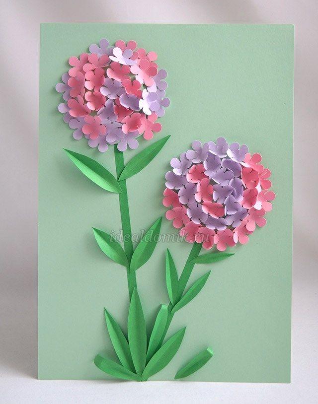 4558a872c194 Аппликация своими руками на тему: Весна из бумаги для детей | цветы ...