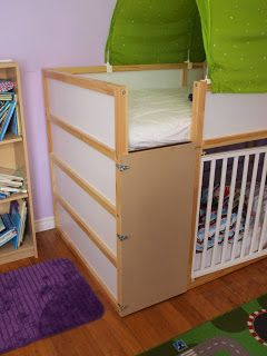 Ikea Bunk Bed Building A Ladder Blocker To Toddler Proof The Bunk