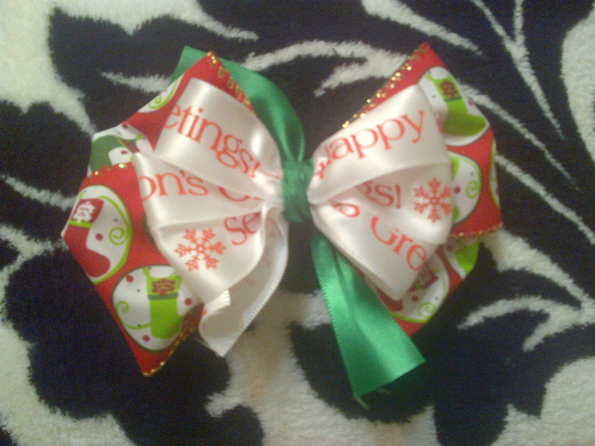 Happy holidays hairbows pinterest