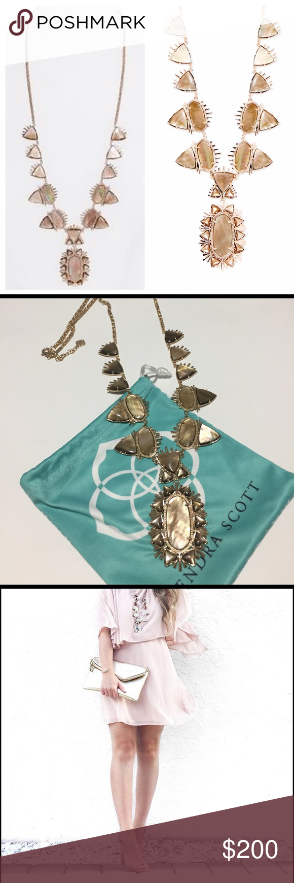 Kendra Scott 'Havana' Necklace in Brown Pearl Worn Once, in perfect condition (come with dust bag) Kendra Scott Jewelry Necklaces