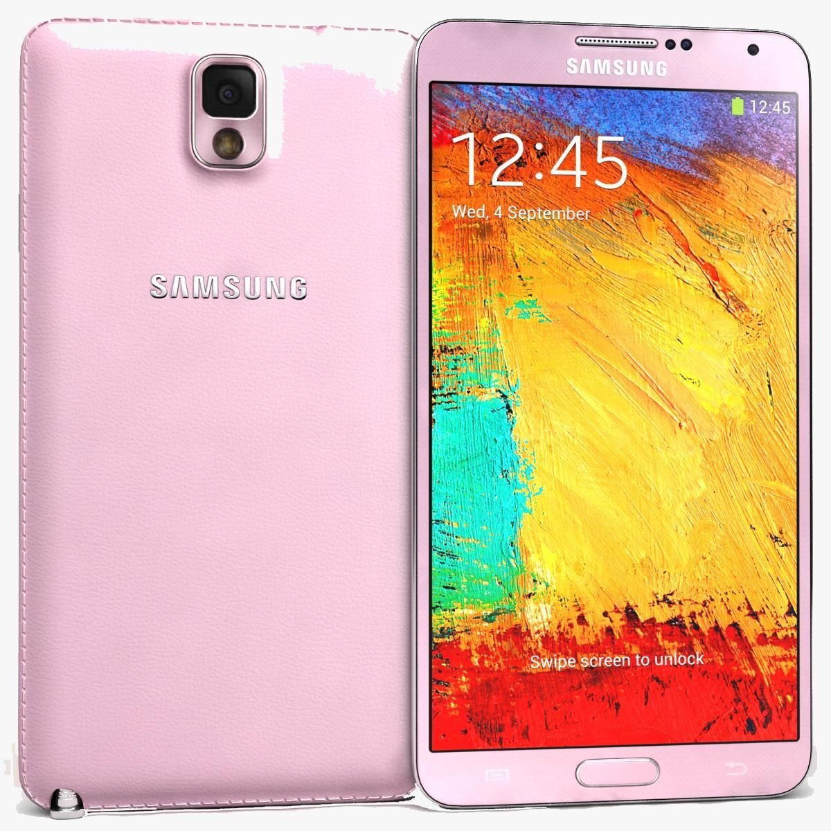 Samsung Galaxy Note 3 Pink 3d Model Ad Galaxy Samsung Note Model Samsung Galaxy Note Galaxy Note Galaxy Note 3