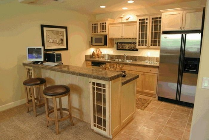 Basement Kitchen Design Cool Design Inspiration