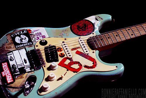 Billie Joe S Famous Signature Stickered Fender Strat