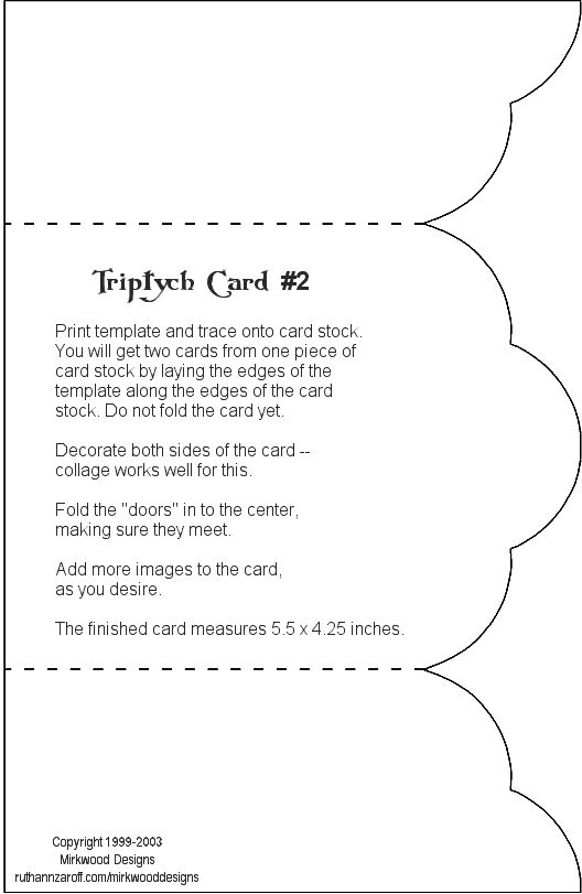 Triptych Shrine Portable Printable  Envelope Folds