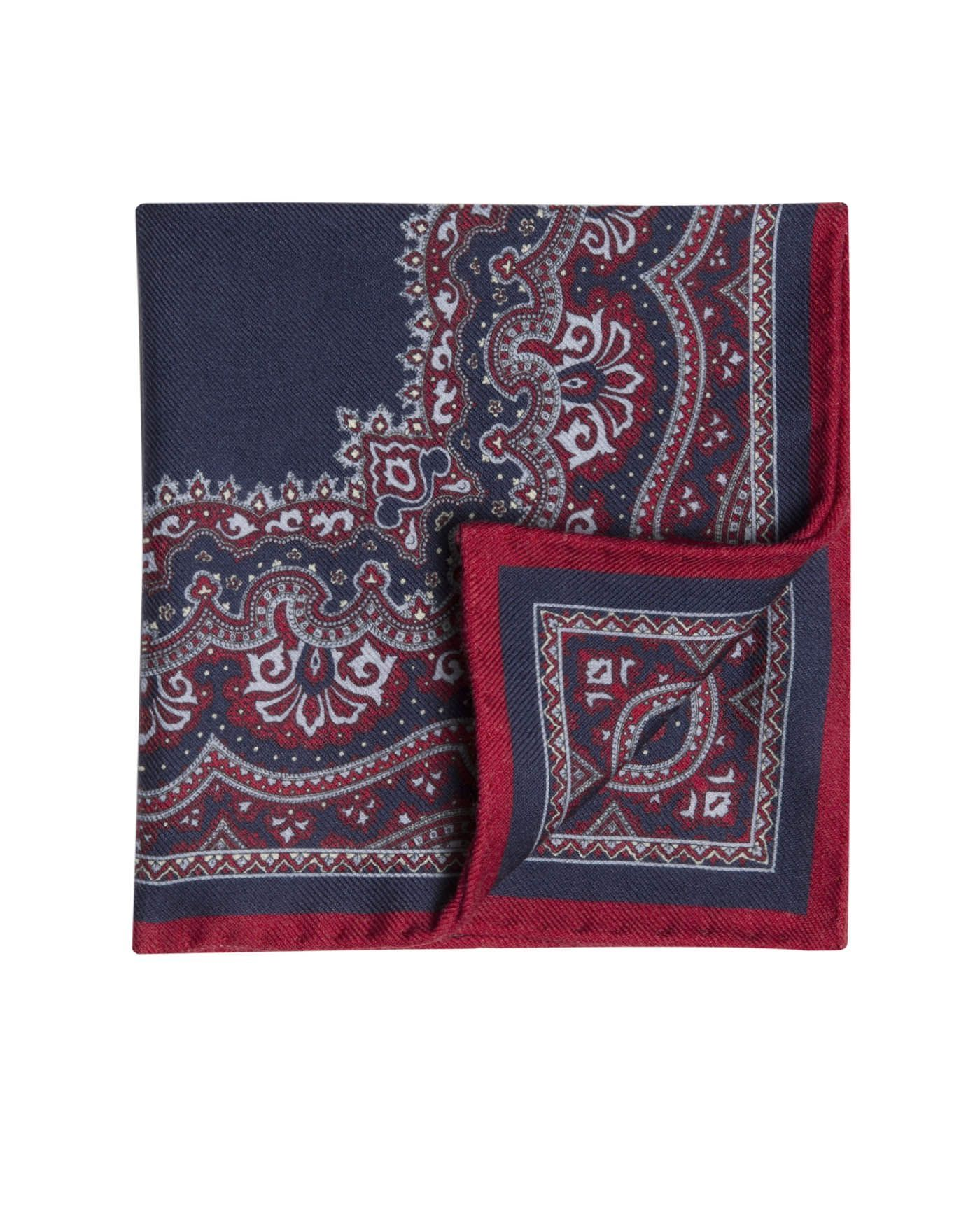 1b05fbac6923c Navy Red Paisley Pocket Square | T.M.Lewin | Psq1 | Suit accessories ...