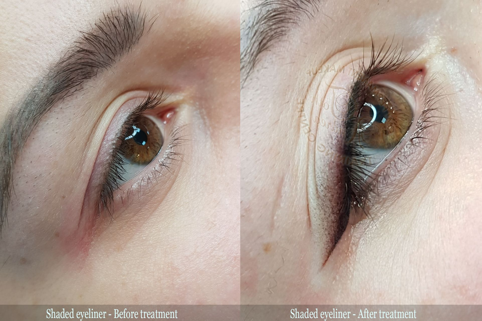 MIST SHADED EYELINER Before-after pictures | Eyeliner in