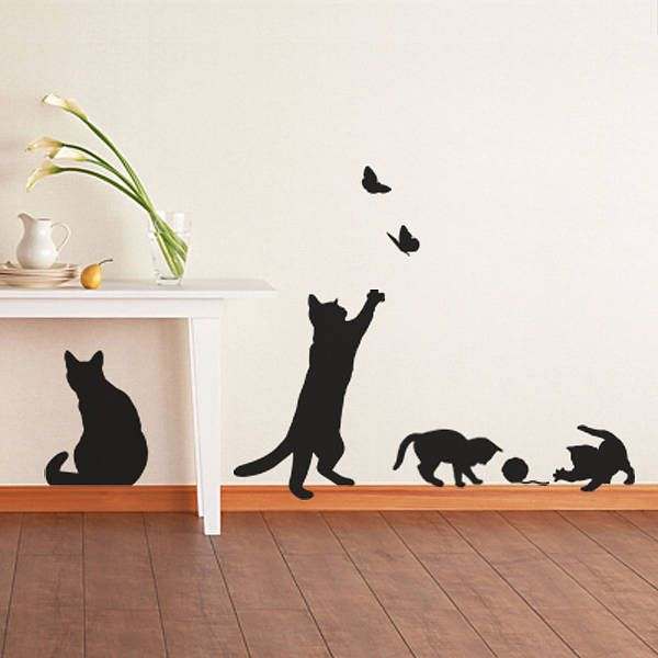 If youu0027d love to have a cat or kittens, but canu0027t have them in your home,  then hereu0027s an alternative option - feline wall stickers! These wonderfully