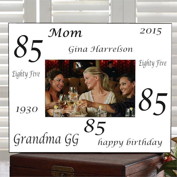 Personalized 85th Birthday Frame Celebration Gifts Ideas