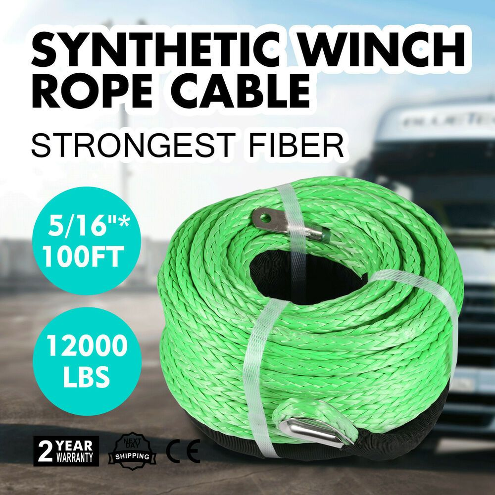 Ebay Sponsored 5 16 100ft Synthetic Winch Ropecable Winchtow Rope For Car With Sheath Pro Winch Rope Winch Cable Synthetic Winch Rope