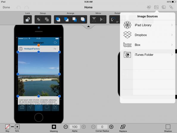 Mockup-Tools: Ein echter Dienst für professionelle Designer und Coder ist AppCooker. Mit ihm können Produktscreenshots detailreicher denn je erstellt werden. (Screenshot: AppCooker)