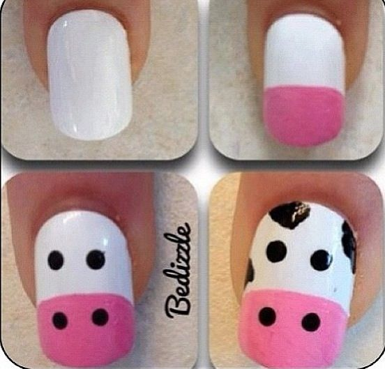 Top 10 Diy Easy Nail Ideas Top Inspired Cow Nails Simple Nails Nails For Kids