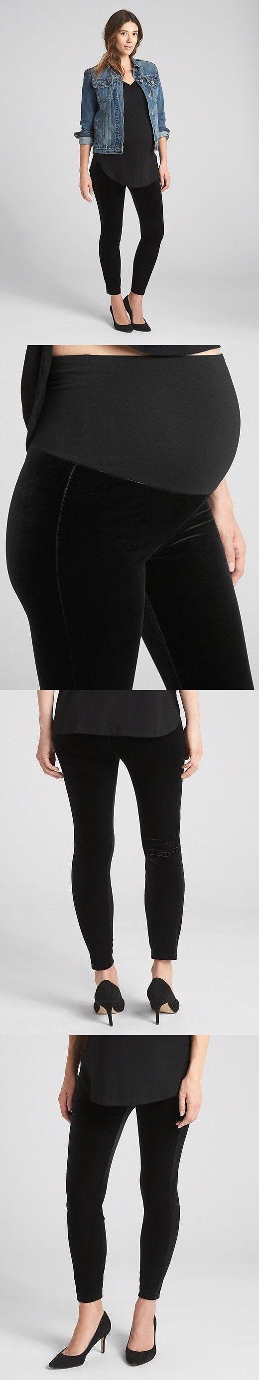 f376a78f04ee9 Pants 63857: Nwt Gap Maternity Full Panel Leggings In Velvet Black, Medium  -> BUY IT NOW ONLY: $16 on #eBay #pants #maternity #panel #leggings #velvet  # ...