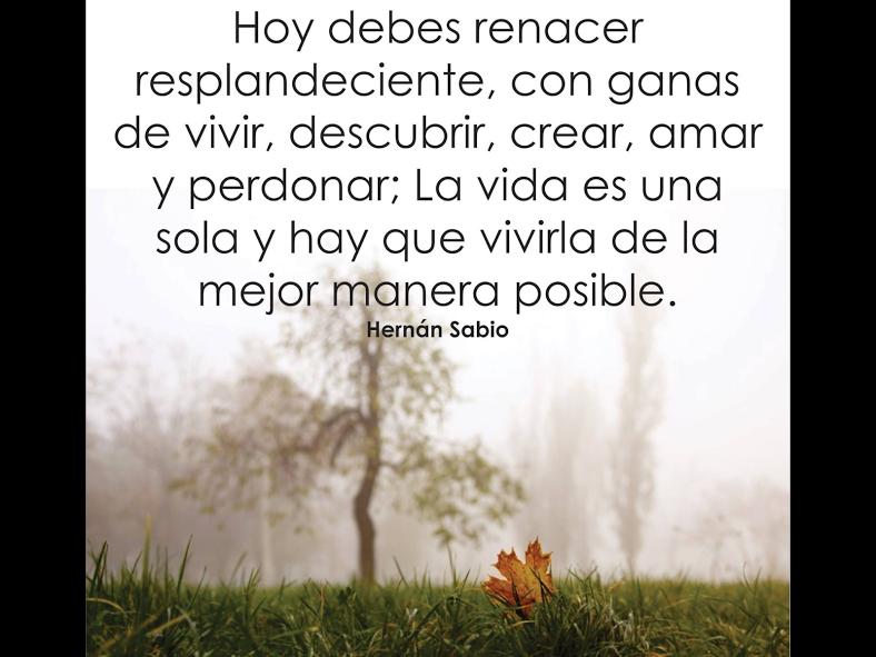 Renacer Hernan Sabio Palabras De ánimo Y Palabras De