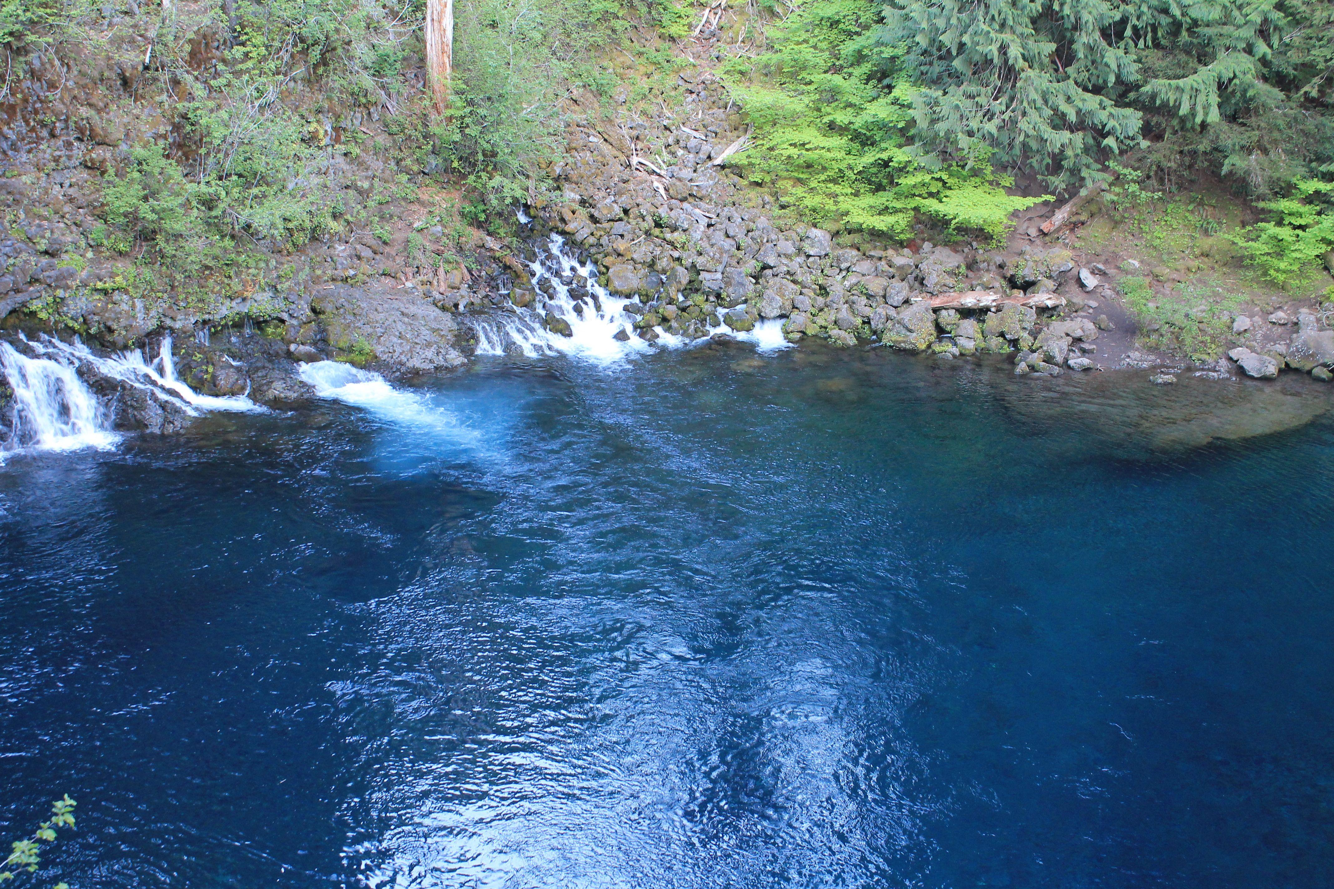 Tamolitch Pool (Blue Pool). McKenzie River. Hiking in