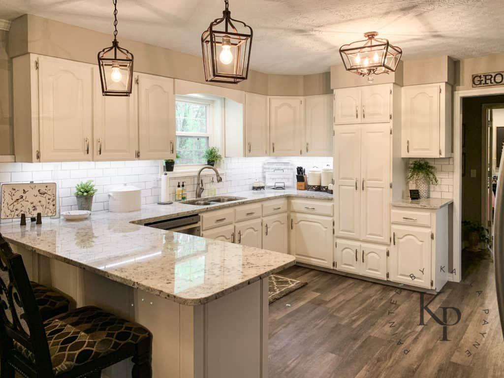 Kitchen Cabinets In Alabaster Painted By Kayla Payne In 2020 Cream Kitchen Cabinets Kitchen Renovation Kitchen Cabinet Trends