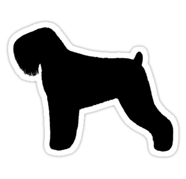 Black Russian Terrier Silhouettes Sticker By Jenn Inashvili