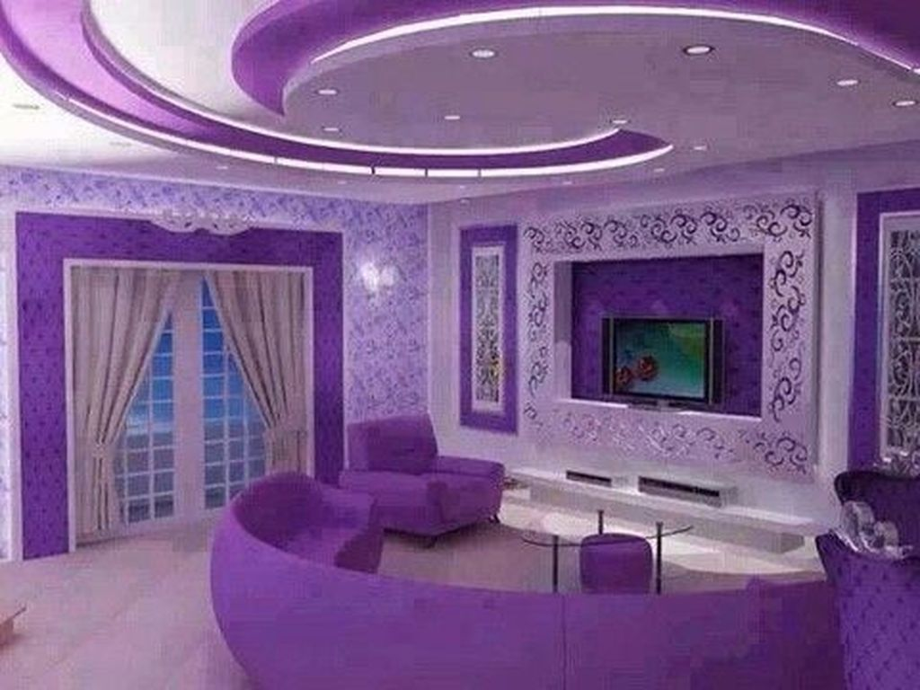 18 Stunning Purple Living Room Decor Ideas  Décoration maison