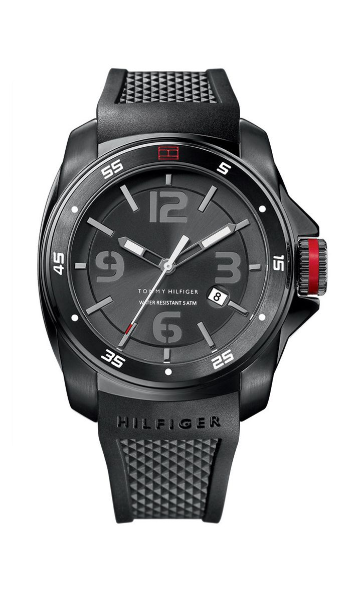 Black Silicon Strap Men S Watch Tommy Hilfiger Usa Tommy Hilfiger Watches Watches For Men Tommy Hilfiger