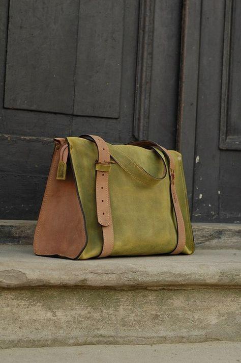 Art Bag Woman Ladybuq Natural Handmade Leather Purse Lime Lili 76vfyYgb