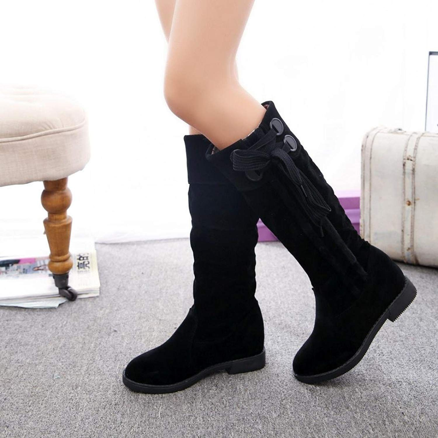 c58cf1abdf FENZL Women's Knee High Boots,Winter Flat Heel Snow Boots *** See this  great product. (This is an affiliate link) #suadeboots