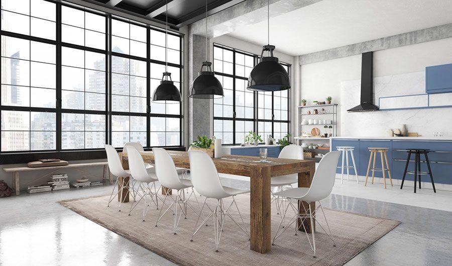 Come arredare una sala da pranzo in stile industriale sala da pranzo dining room design - Come arredare sala ...