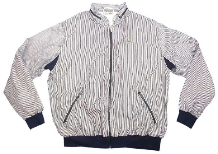 a8ce7958d Vintage Chemise Lacoste 1980s Bomber Jacket Made in France with Fold ...