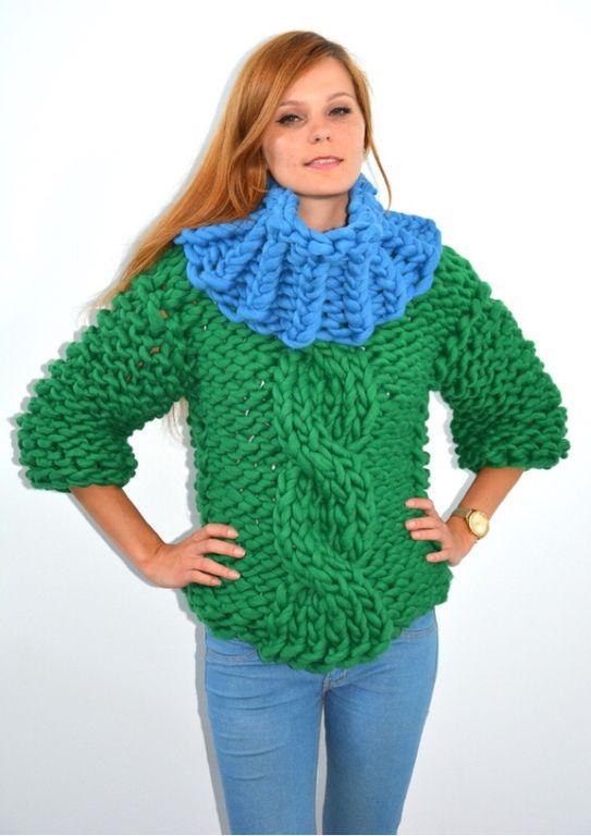 свитер из крупной пряжи