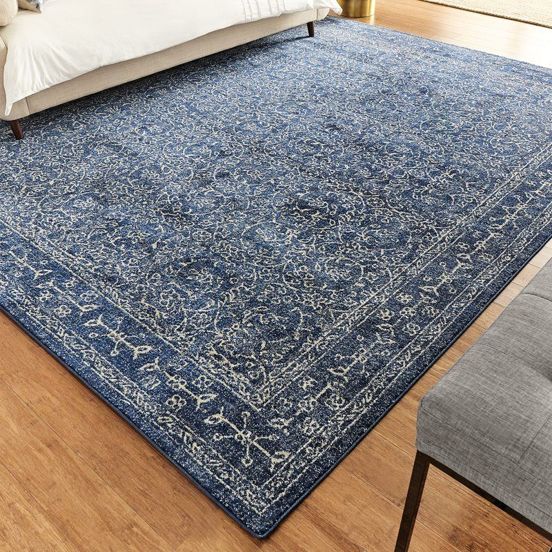 Utterback Dark Blue Area Rug Area Rugs Blue Rug Blue Area Rugs