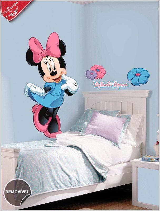 3cea9230e5 Adesivo decorativo infantil personagens Disney Minnie Mouse    Decore  Ideias - Adesivos Decorativos