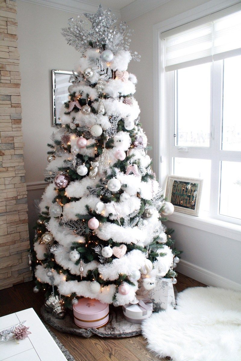 Glam Christmas Home Tour | dreaming of a pink christmas ...