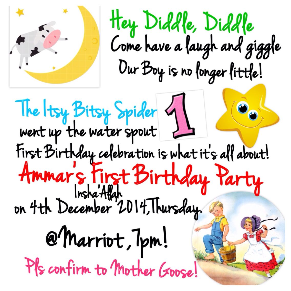 Nursery Rhyme Invitation Birthday Rhymes 1st Party Themes Invitations
